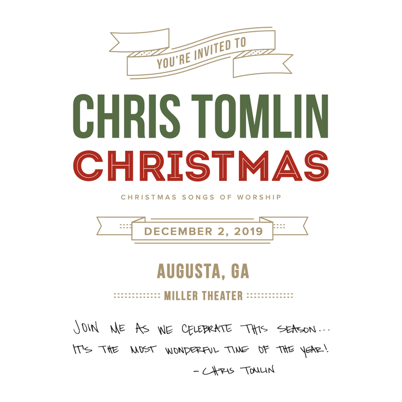 Chris Tomlin Christmas.Chris Tomlin Christmas Songs Of Worship Tour